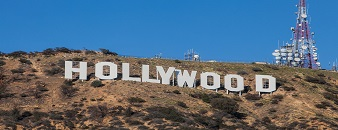 HOLLYWOOD - January 26: The world famous landmark Hollywood Sign